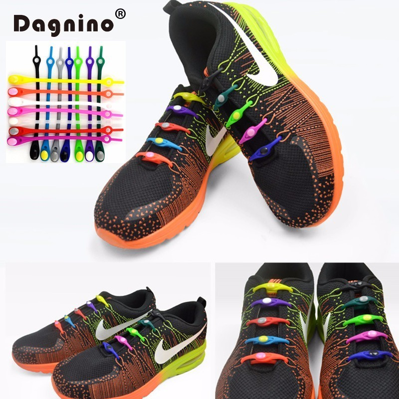 New Listing 6pcs/lot silicone shoelaces No Tie lazy laces Unisex Elastic Silicone Shoe Laces Men Women All Sneakers Fit Strap 10pcs lot silicone no to tie shoelaces new elastic shoe laces unisex all fit strap business shoes rubber shoelaces lazy laces
