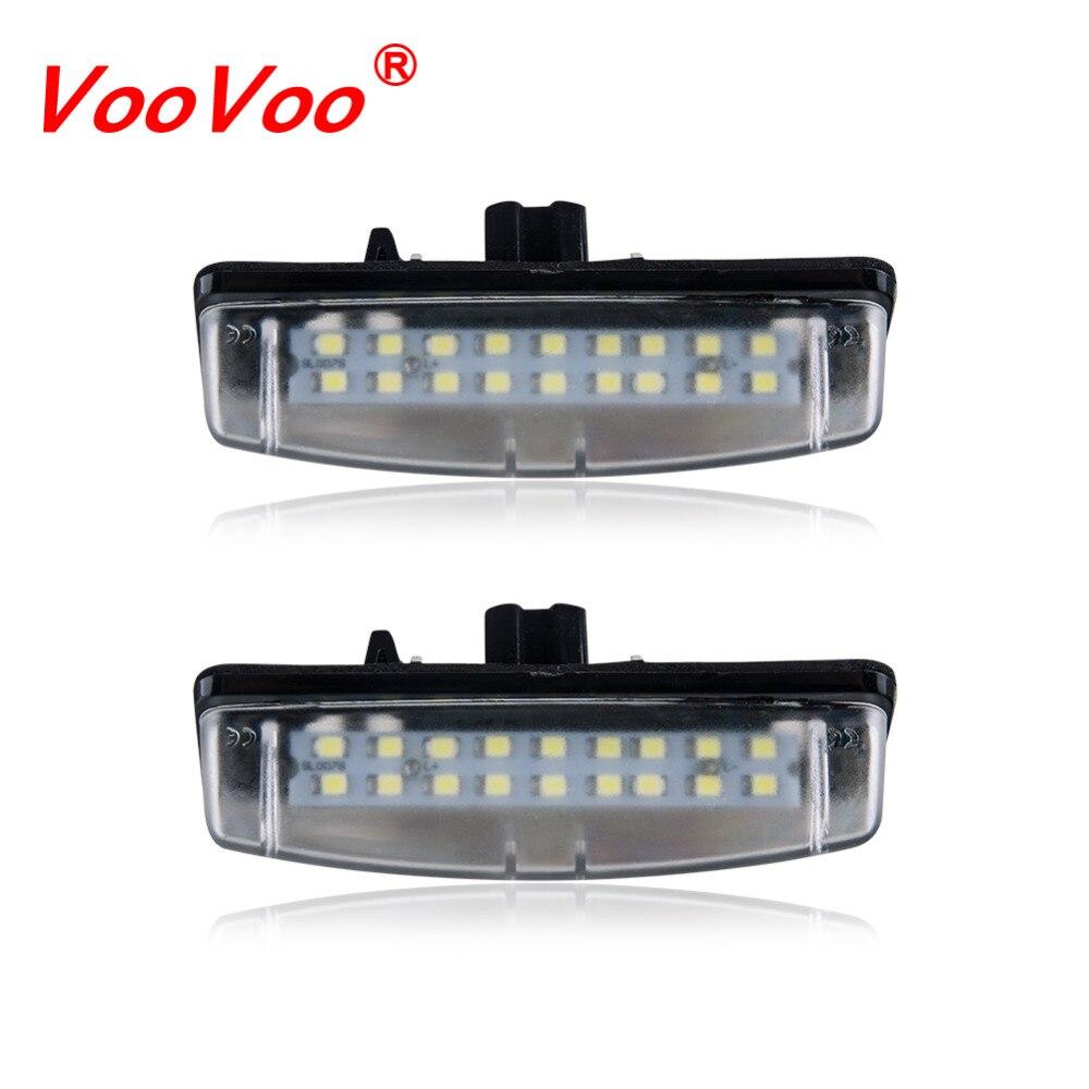 Dynamic Beler 1 Pair White 18led 2 Pin License Number Plate Light Lamp Fit For Toyota Camry Yaris Prius Vitz Avensis Signal Lamp