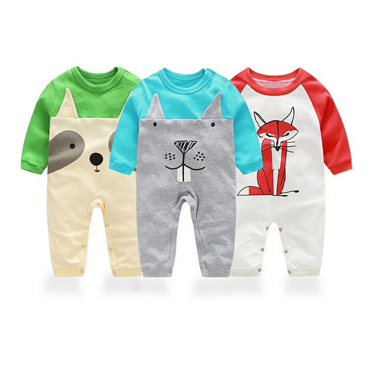 baby clothing ! 2017 new Baby girl clothes jumpsuit animal romper boy clothes infant costume kids sleepwear & Pajamas bebes new newborn baby girl rompers pajamas long sleeve cotton romper clothes baby jumpsuit for babies animal infant boy girl clothing