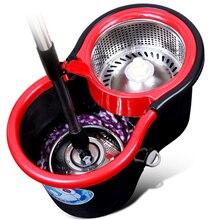 Magia Mop z wiadrem łatwe Mop z mikrofibry obracanie Mop podłoga w domu zestaw czyszczący z 4 mop głowy