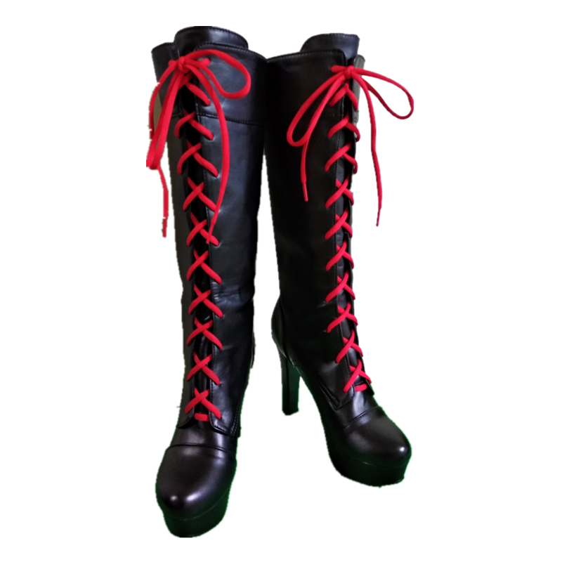 Image 2 - Anime Danganronpa 2 Enoshima Junko Cosplay Boots Lace Up High Heel Shoes New+Drop Shipping Pu Leather-in Shoes from Novelty & Special Use