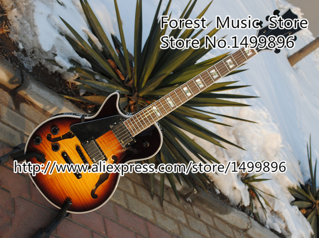 Cheap New Arrival Vintage Sunburst Tiger Flame Finish Lefty LP Electric Guitars 22 Frets Rosewood Fingerboard Guitarra