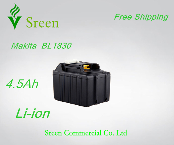 New Rechargeable 18V Li-ion 4500mAh Replacement Battery Packs for Makita Power Tool Battery BL1830 194205-3 194230-4 LXT400 ce testified replacement power tool rechargeable battery for bosch 14 4v li ion 3 0ah 2607335711 bat038 bat040 bat041 bat140