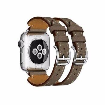 Натуральная кожа ремешок для наручных часов Apple Watch, версии 3, 2, 1 38 мм 42 мм >> LOL Valoran Store
