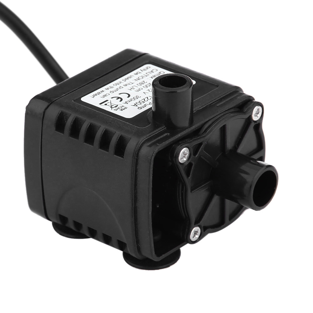12V DC Electric Mini Water Circulation Pump brushless motor Submersible pump for hydroponics Medical Cooling 280L/H Car Styling dc 12v 1a powerful micro brushless magnetic amphibious appliance water pump