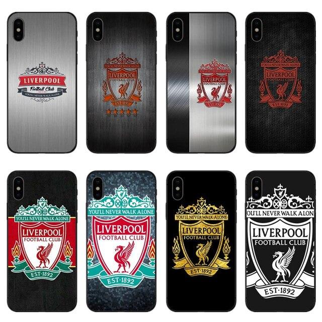 2b2b92455ec Liverpool LOGO phone cover case black soft TPU for iPhone XS XR MAX X10 5  5S 5SE 6 6S 6Plus 6SPlus 7 7Plus 8Plus