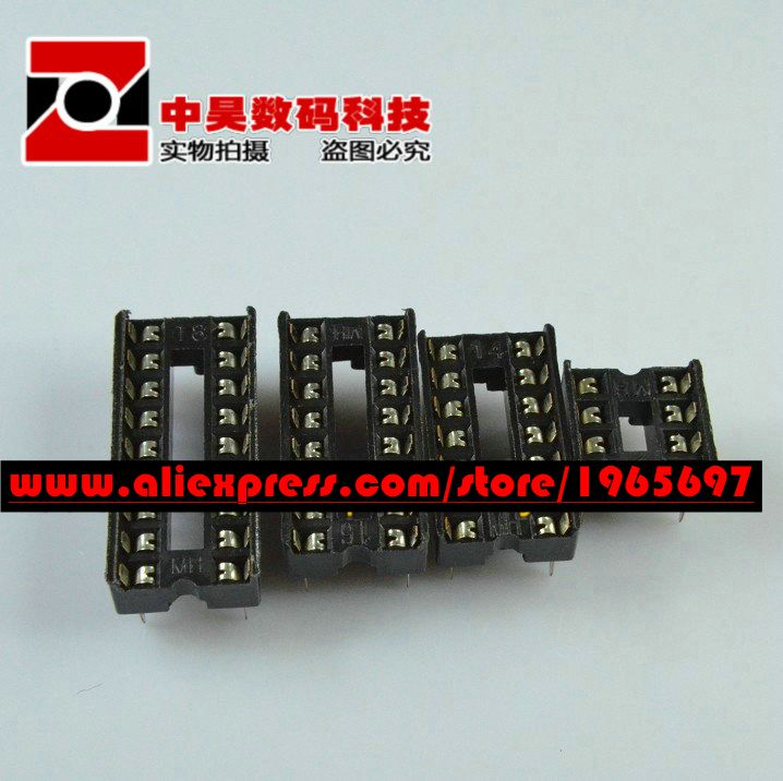 10pcs/lot <font><b>28</b></font> pin <font><b>DIP</b></font> <font><b>socket</b></font> <font><b>DIP</b></font>-<font><b>28</b></font> <font><b>socket</b></font> 28P <font><b>socket</b></font> In Stock image
