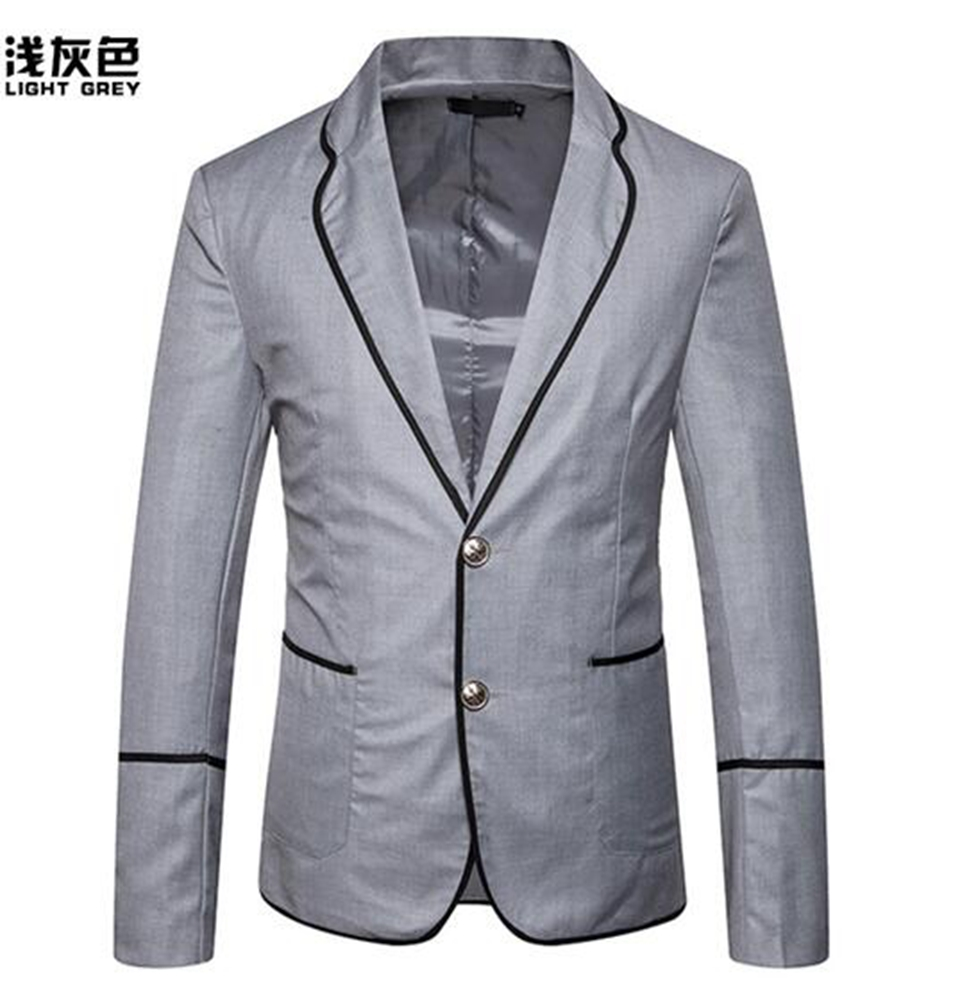 Men in the spring and autumn fashion boutique cultivate ones morality fashion color matching wedding host suit jacket 291/S-2XL