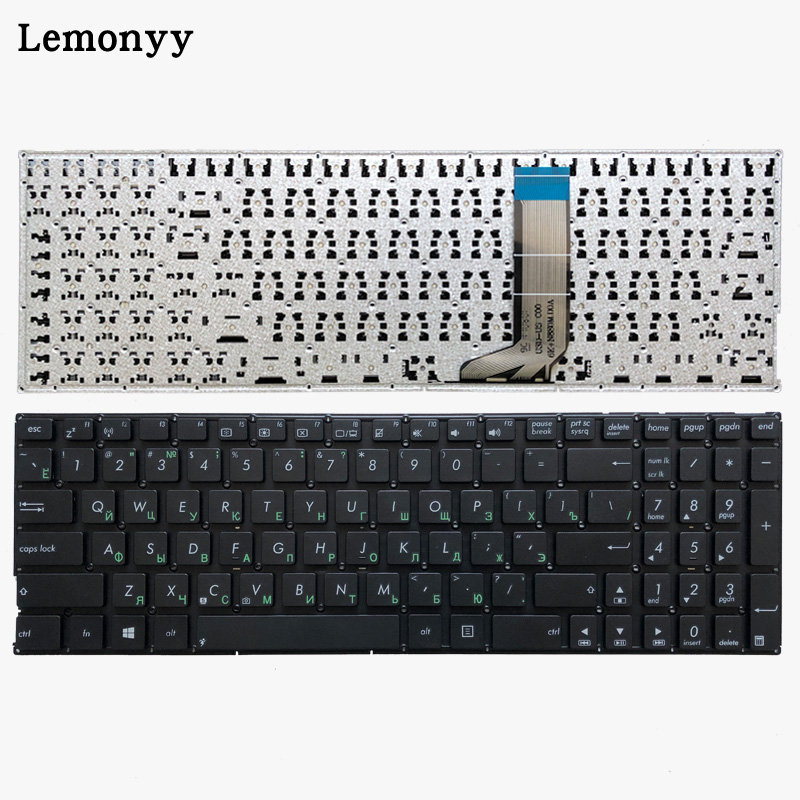 Russian keyboard for Asus X556 X556U X556UA X556UB X556UF X556UJ X556UQ X556UR X556UV RU laptop keyboard-in Replacement Keyboards from Computer & Office on