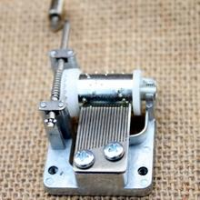 DIY музыкальная шкатулка движение Игровой Набор 18 мелодий механическая музыкальная шкатулка рукоятка музыкальная шкатулка шкатулки для девочек с винтами