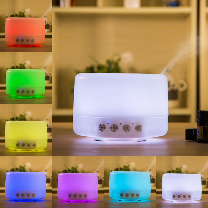 Household 500ML Portable Cool-Mist Air Humidifier Ultrasonic Aromatherapy Essential Oil Diffuser With 7 Colors Changing LED high quality household portable cold spray nanometer hydrometer automatic air freshener cool mist humidifier perfect for skin