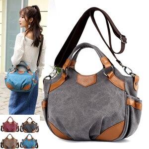 Image 1 - 2020 Nieuwe Canvas Schoudertassen Vrouwen Casual Messenger Bags Hoge Kwaliteit Dames Totes Handtassen Vrouwelijke Crossbody Tas Bolsas