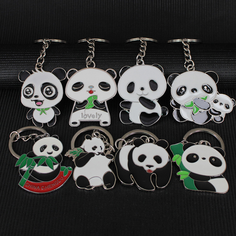 Octbyna 6style Chinese National Treasure Animal Panda Keychain Panda Keychain Small Boutique Gifts for Travel Gift