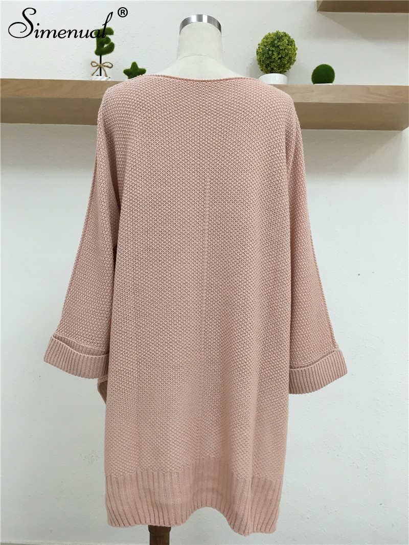 Oversized Batwing Sleeve Lady's Sweater, Knitwear V Neck, Long Pullover 17