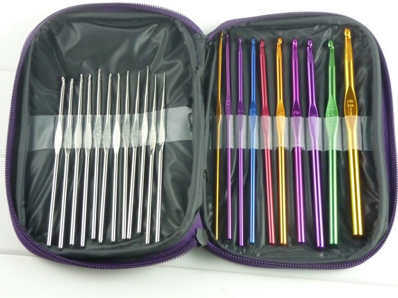 100 sets 22 teile/satz Aluminium Häkelnadel Stricknadeln Griff Stricken Set Weave Pullover stricken tools Craft Garn Stich Webstuhl Kit image