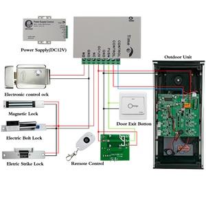Image 5 - 7 TFT צבע וידאו אינטרקום המצלמה RFID עם 2 צגים + Strike מנעול חשמלי + שלט רחוק אלחוטי לפתוח עבור 2 דירות