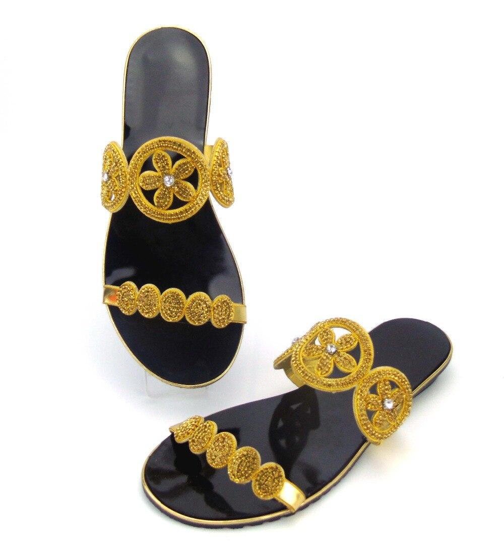 doershow Wholesale African Designer Shoes Women Fashhion Hot Style African Sandals Shoes Pumps For Wedding !  ABS1-22 doershow women slipper elegant african women sandals shoe for party african wedding low heels slip on women pumps shoes abs1 5