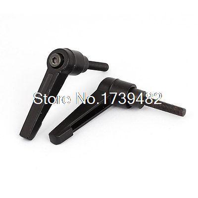 M5 x 25mm Male Thread Lathe Machine Metal Adjustable Handle Lever Grip 2pcs t2 red copper d150mm x 25mm 2pcs