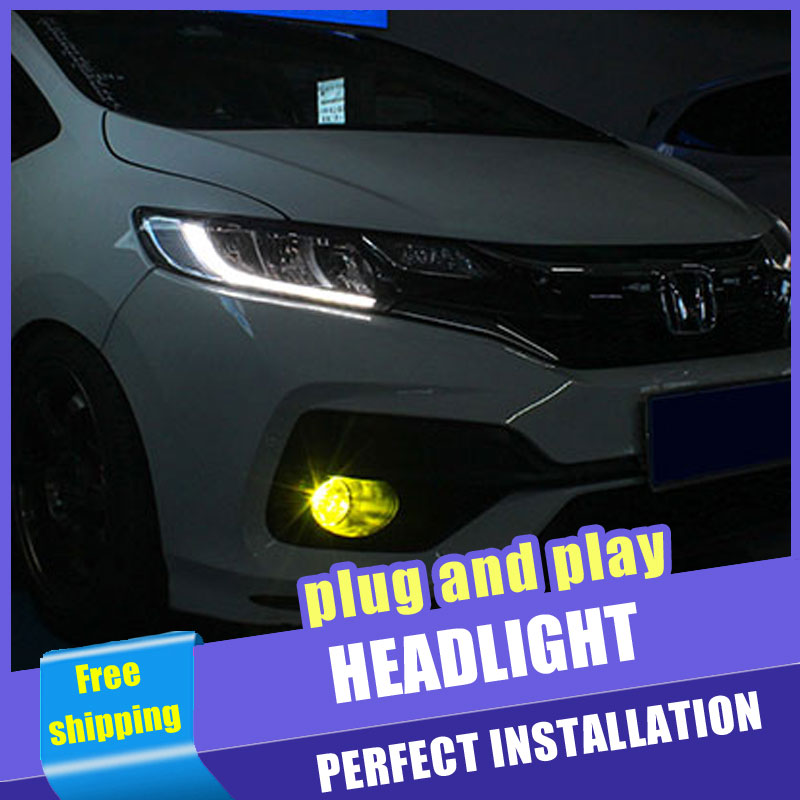 2PCS Car Style all LED headlights for Honda fit 2013 2018 for fit head lamp LED