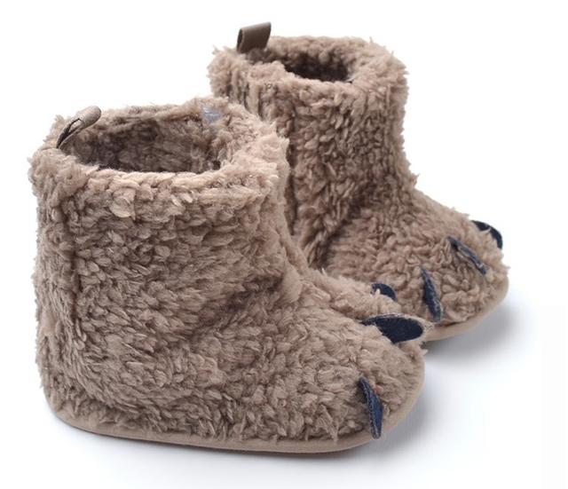 Monstruo lindo Bebé Pata de Diseño Botas de Nieve de Moda Suaves Zapatos Infantiles Del Niño Del Invierno Botas de Algodón de Abrigo Envío de La Gota