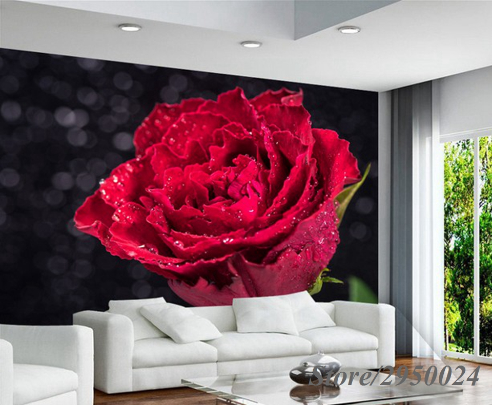 Customize Any Size HD Photo 3D Eco-friendly Wallpaper Mural for Wedding room Living Room TV Sofa Background Art Wall Home Decor 3d stereo relief peacock flowers mural photo wallpaper living room tv sofa study backdrop art wall paper for walls 3d home decor