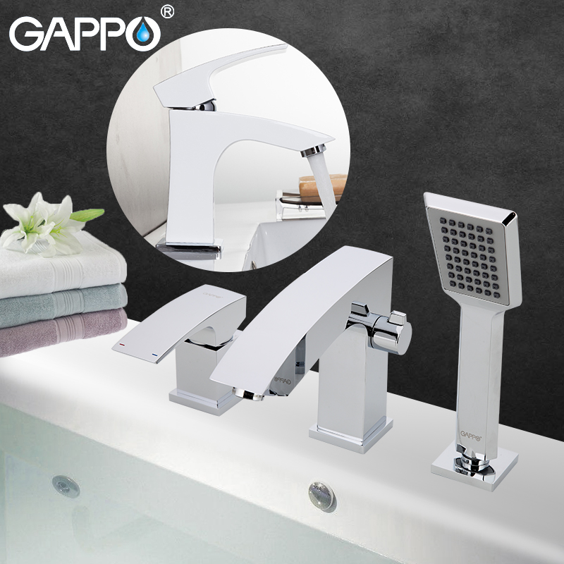 GAPPO Sanitary Ware Suite waterfall Faucets shower faucet set bronze rain shower head showers Faucets