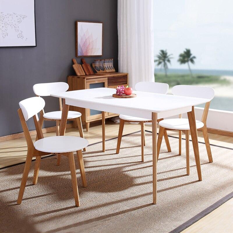 €183.18  Diseño minimalista moderno madera maciza y MDF Silla de comedor de  madera moderna silla de ocio muebles de decoración del hogar Silla de ...