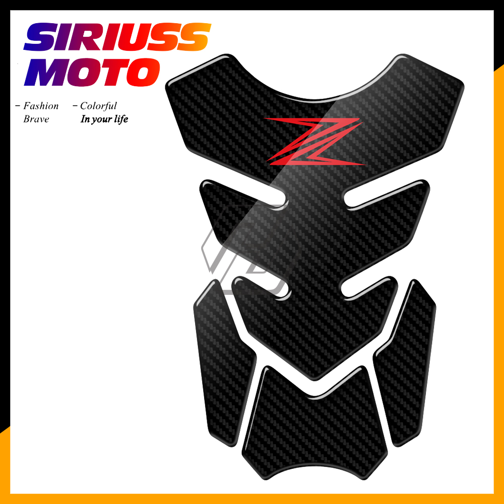 3D Olhar De Carbono Motocicleta Tanque Pad Protector Adesivos Decal para Kawasaki Z250 Z300 Z650 Z750 Z800 Z900 Z1000