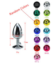 Random Colors Metal Anal Toys Butt Plug Stainless