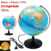 32CM Terrestrial World Globe Earth Map Geography Education Toy Map With Rotating Stand Home Decoration Office Ornament