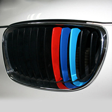 3pcs 25x5cm Car Front Grille Stripe Sticker Car Door Stickers Decoration for BMW M3 M5 E46 PVC Car Styling Car Body Stripe cheap The Whole Body Glue Sticker Color Change Not Packaged
