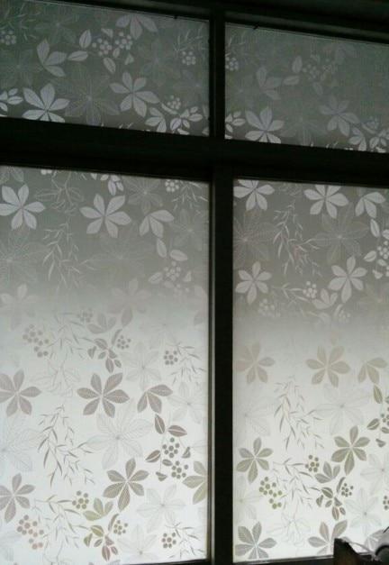 Verdikking en kleur frosted vensterglas film voor badkamer toilet en ...