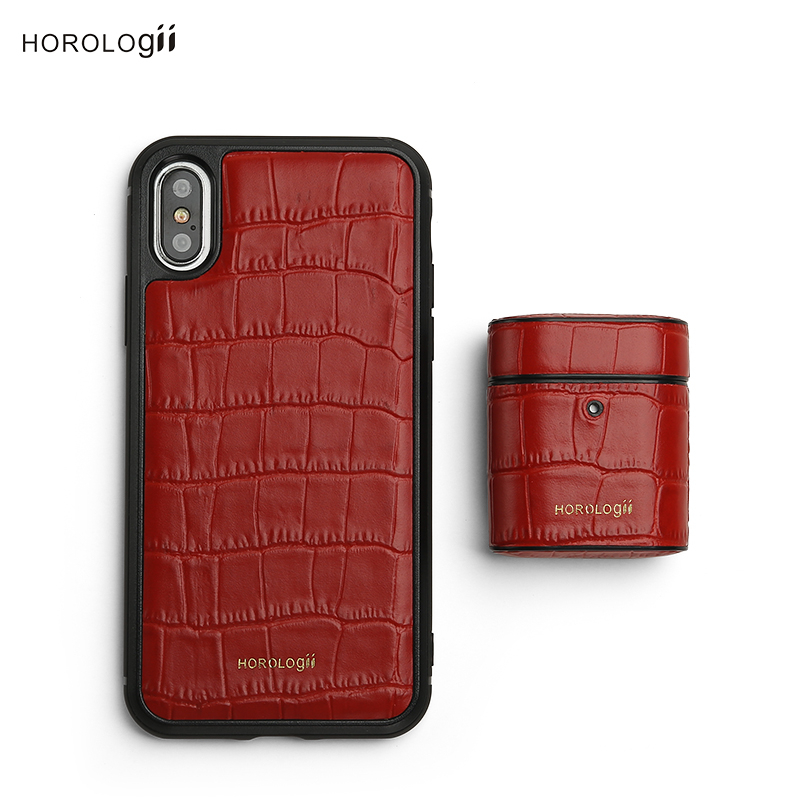 Horologii Custom Name Free for best gift set for iphone X case and for AirPods case box dropship