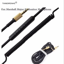 For Marshall Major Major 2 Major II Monitor Voice Control Headset Cable Headphone Drive-by-wire Cable for Iphone Samsung
