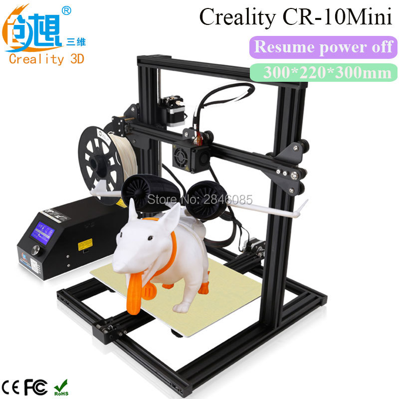 2017 Newest CREALITY 3D CR-10 Mini Full Metal Frame Large 3D Printer Support Resume Printing after power off 3D Printer DIY Kit original anycubic 3d pinter kit kossel pulley heat power big size 3d printing metal printer fast shipping from moscow