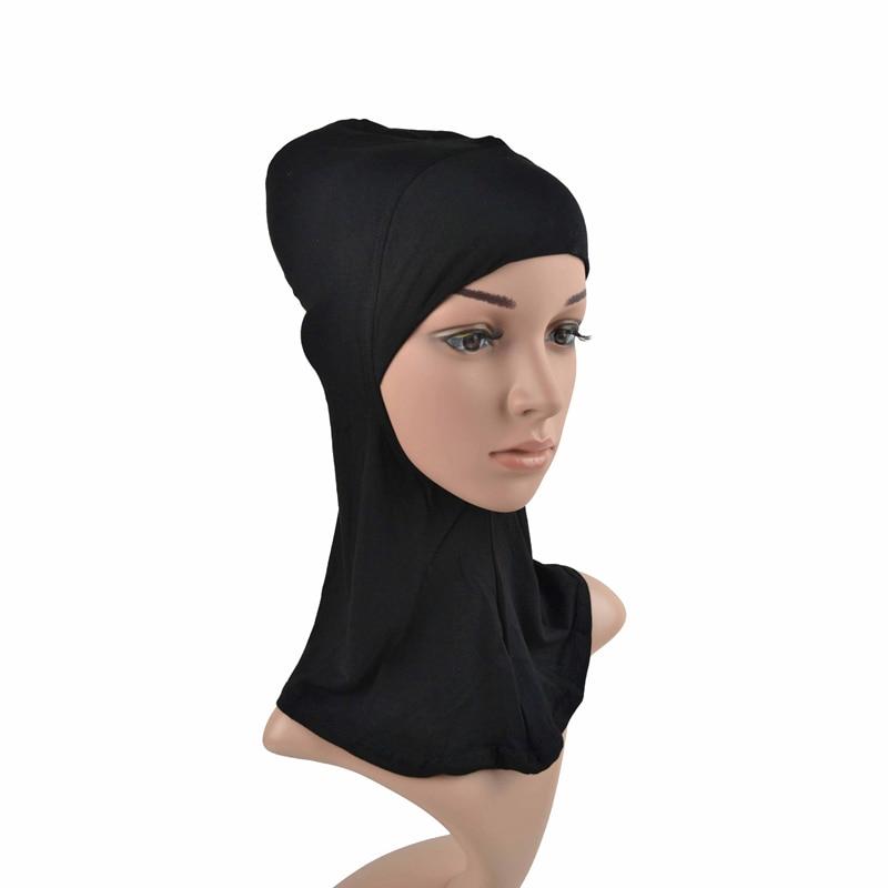 Один кусок Хиджаб Женский вискозный Джерси-шарф Мусульманский Исламский сплошной простой Джерси хиджабы Макси шарфы мягкие шали 70x160 см - Цвет: inner hijab