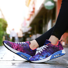 Women 3D Print Run Sports Shoes for Lovers Breathable Fashion Male Sneakers Walking Comfortable Femme