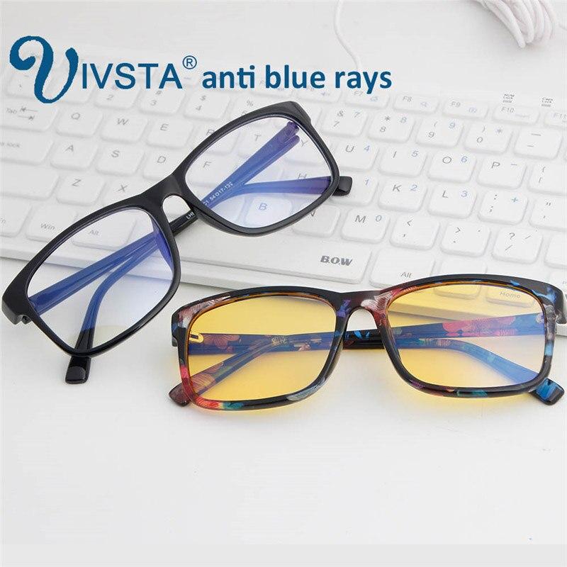 IVSTA anti blau rays computer Gläser Männer Blau Licht Beschichtung Gaming Gläser gelb linsen schutz auge Retro Brille H012
