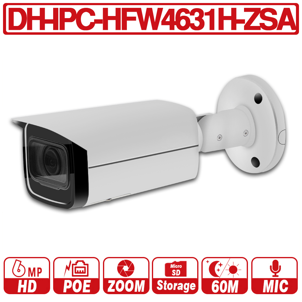 DH with logo IPC HFW4631H ZSA Original 6MP HD IP Camera 5X ZOOM VF Lens POE