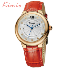 KIMIO New Trend Workplace Womens Watches Relojes Mujer 2016 Excessive High quality Montre Femme Leather-based Band Quartz-Watch For Girls 526