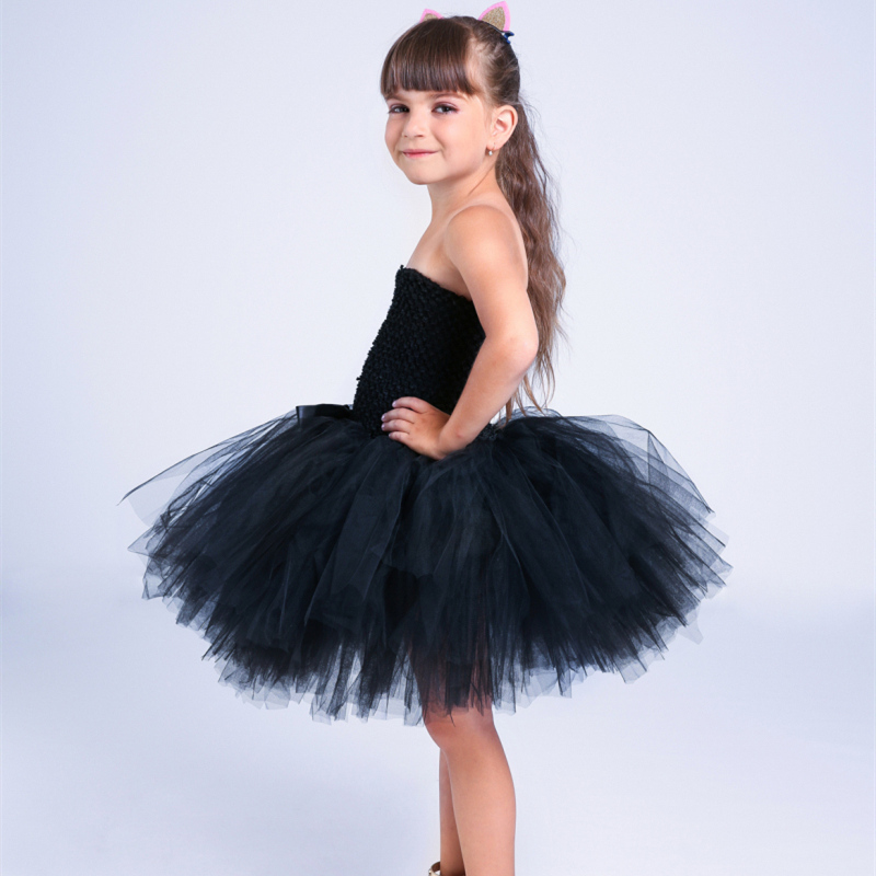 5e129d75bd PRINCESS TUTU Black Cat Girl Dress Sleeveless Tulle Sexy Costume Girls  Party Dress Animal Halloween Costumes For Kids K051A-in Dresses from Mother    Kids on ...