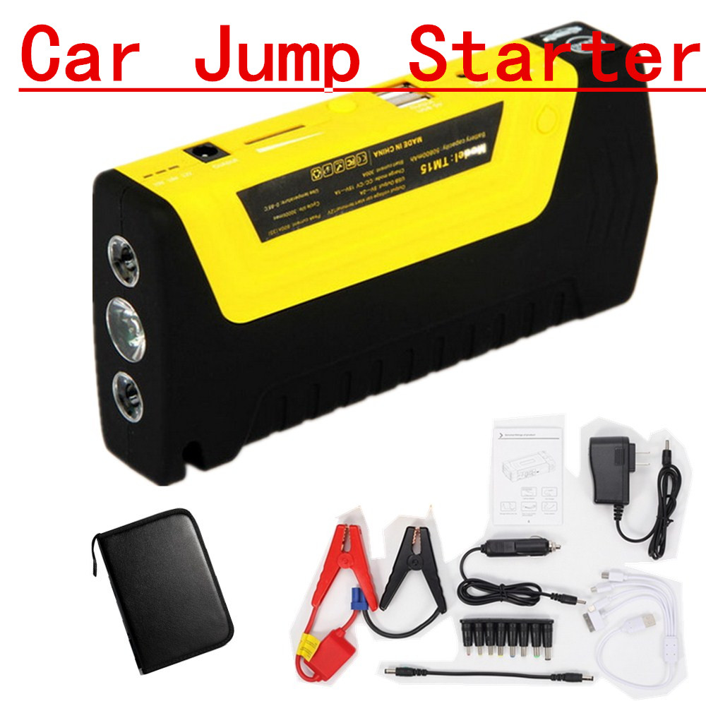 new hor Petrol 12V Car Power Bank Car Jump Starter Mobile Power Charger 4 USB port Multi-Function with pump