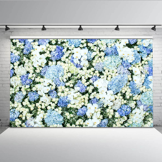 Mehofoto Blue Flower Photo Shoot Backdrops Married Wedding Background for Photography Studio Computer printed Custom G-607