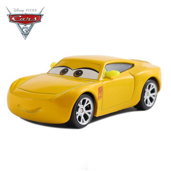 The New Cars Disney Pixar Cars 3 Cars 2 Cruz Ramirez & Jackson Storm Metal Diecast Toy Car 1:55 Loose Brand New In Stock image