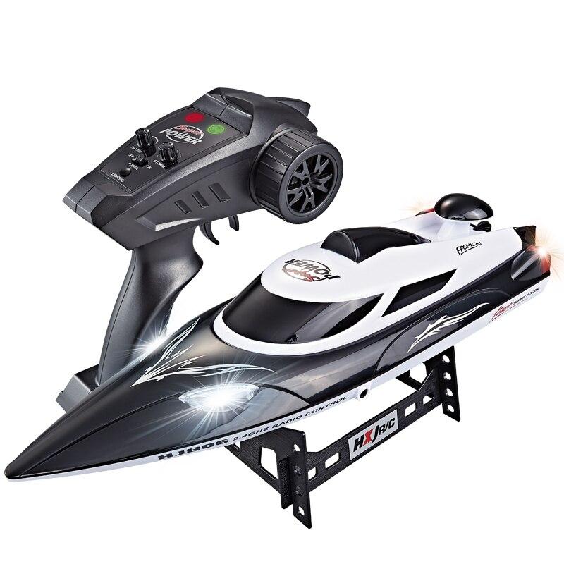 Barco de corrida de alta velocidade rc, 35 km/h, 200m, controle de distância, navio rápido com sistema de resfriamento de água hj806