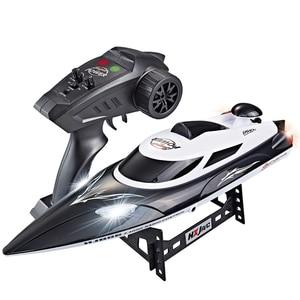 Скоростная радиоуправляемая гоночная лодка, скорость 35 км/ч, расстояние управления 200 м, быстрая доставка с системой водяного охлаждения HJ806