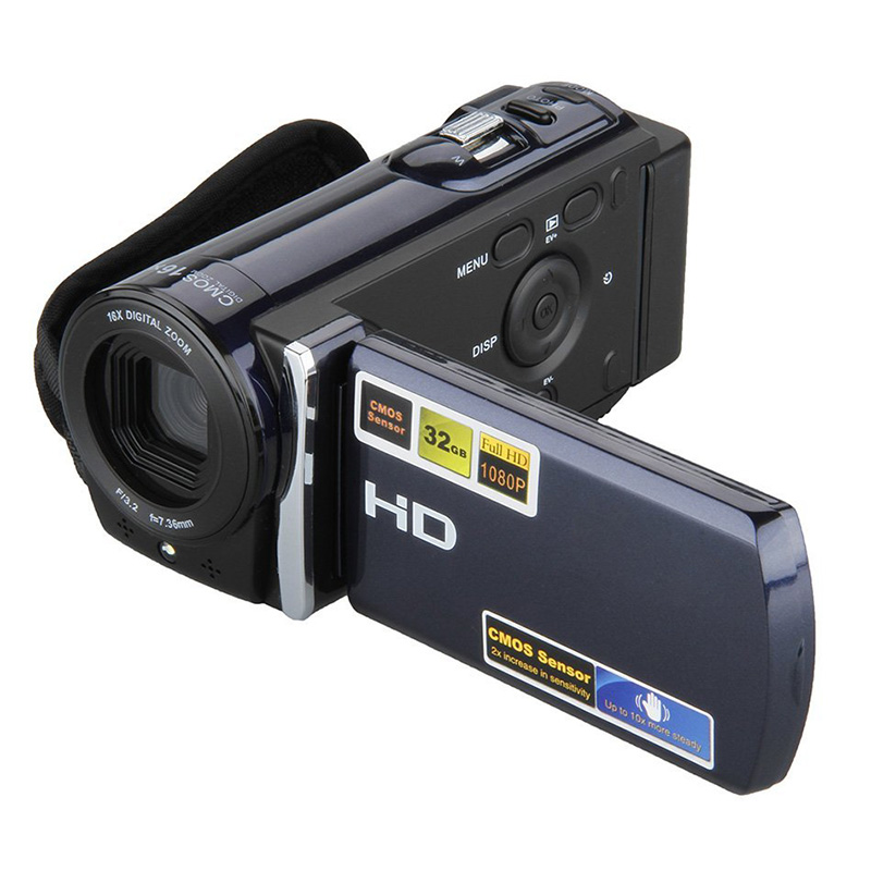 3.0 TFT LCD HD 1080P 16MP Camcorder Digital Video Camera 16x Zoom DV Blue W/ HDMI 5 0mp digital video camcorder w 4x digital zoom motion detection hdmi sd slot 2 5 tft lcd