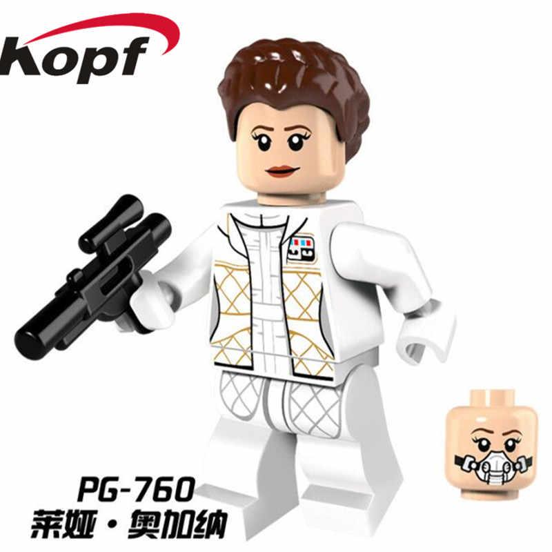 Одиночная продажа пространство Хан Solo принцесса Leia первый заказ полицейский люк строительные блоки Скайуокера игрушки для детей PG759 PG760