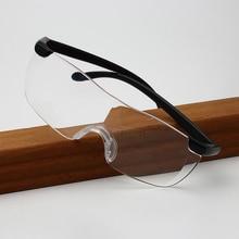 Очки для чтения es, для мужчин и женщин, большое видение, Безрамное увеличительное стекло 1,6 раз 250 увеличение пресбиопическое стекло es увеличительные защитные очки