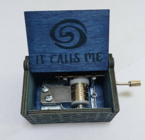 Princess Moana Music Box Mechanism DIY Wood Box Maui Heihei Pua It Calls Me Music Box Moana Figure Toys Party Supplies